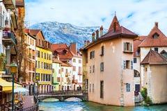 Παλαιά πόλη στο Annecy, Γαλλία Στοκ Φωτογραφία