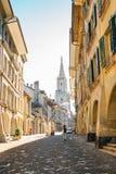 Παλαιά πόλη της Βέρνης και ο καθεδρικός ναός της Βέρνης στην Ελβετία Στοκ Εικόνα