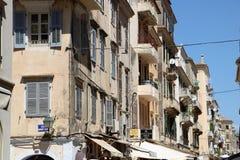 Παλαιά πόλη της Κέρκυρας, Ελλάδα Στοκ φωτογραφία με δικαίωμα ελεύθερης χρήσης