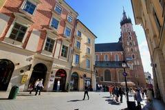 Παλαιά πόλη της μαγικής Κρακοβίας, Πολωνία Στοκ εικόνα με δικαίωμα ελεύθερης χρήσης