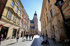 Παλαιά πόλη της μαγικής Κρακοβίας, Πολωνία Στοκ Φωτογραφίες