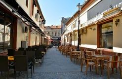Παλαιά πόλη του Βουκουρεστι'ου, περιοχή Lipscani Στοκ Εικόνες