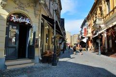 Παλαιά πόλη του Βουκουρεστι'ου, περιοχή Lipscani Στοκ εικόνες με δικαίωμα ελεύθερης χρήσης