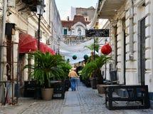 Παλαιά πόλη του Βουκουρεστι'ου, περιοχή Lipscani Στοκ Φωτογραφία