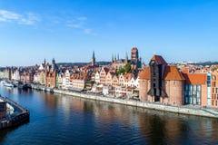 Παλαιά πόλη του Γντανσκ, Πολωνία εναέρια όψη Στοκ Φωτογραφίες