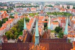 παλαιά πόλη του Γντανσκ Στοκ εικόνα με δικαίωμα ελεύθερης χρήσης