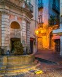 Παλαιά πόλη του Σαλέρνο στο ηλιοβασίλεμα, Campania, Ιταλία Στοκ φωτογραφίες με δικαίωμα ελεύθερης χρήσης