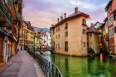 Παλαιά πόλη του Annecy, κραμπολάχανο, Γαλλία Στοκ Εικόνες
