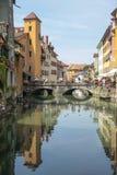 Παλαιά πόλη του Annecy στη Γαλλία Στοκ Εικόνες