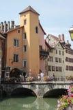 Παλαιά πόλη του Annecy στη Γαλλία Στοκ Φωτογραφίες