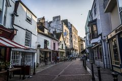 Παλαιά πόλη Hastings, ανατολικό Σάσσεξ, Αγγλία, UK στοκ εικόνα με δικαίωμα ελεύθερης χρήσης