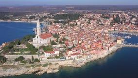 παλαιά πόλη rovinj απόθεμα βίντεο