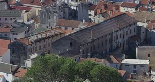 Παλαιά πόλη Sibenik απόθεμα βίντεο