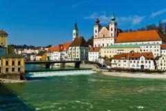 παλαιά πόλη steyr της Αυστρίας στοκ εικόνες