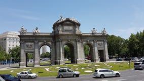Παλαιά πύλη πόλεων της Μαδρίτης Στοκ φωτογραφίες με δικαίωμα ελεύθερης χρήσης