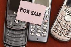παλαιά πώληση handphone Στοκ εικόνα με δικαίωμα ελεύθερης χρήσης