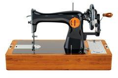 Παλαιά ράβοντας μηχανή, τρισδιάστατη απόδοση ελεύθερη απεικόνιση δικαιώματος