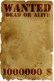 παλαιά σελίδα επιθυμητή Στοκ Εικόνα