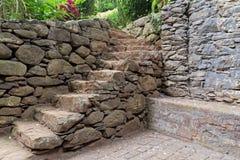 Παλαιά σκάλα πετρών σε ένα πάρκο στοκ φωτογραφίες
