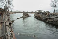 παλαιά σκάφη νεκροταφείων Στοκ Εικόνα