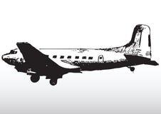 Παλαιά σκιαγράφηση αεροπλάνων   διανυσματική απεικόνιση