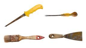 παλαιά σκουριασμένα καθορισμένα εργαλεία Στοκ Εικόνες