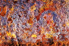 παλαιά σκουριασμένη σύσταση μετάλλων στοκ εικόνες