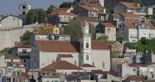 Παλαιά σπίτια Sibenik απόθεμα βίντεο