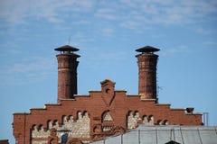 Παλαιά στέγη οικοδόμησης Στοκ Εικόνες