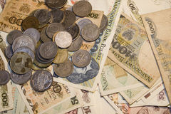 παλαιά στιλβωτική ουσία χρημάτων στοκ εικόνες με δικαίωμα ελεύθερης χρήσης