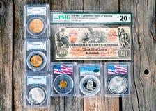 Παλαιά συλλογή νομισμάτων στοκ φωτογραφίες με δικαίωμα ελεύθερης χρήσης