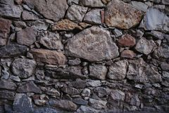 Παλαιά σύσταση και υπόβαθρο τοίχων πετρών Υπόβαθρο τοίχων βράχου Στοκ Εικόνες