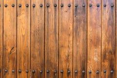 Παλαιά σύσταση πορτών με τα καρφιά Στοκ φωτογραφίες με δικαίωμα ελεύθερης χρήσης