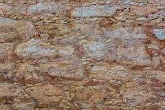 Παλαιά σύσταση τοίχων βράχου πλίθας Στοκ Φωτογραφίες