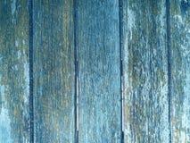 Παλαιά σύσταση τοίχων ξύλου και σανίδων για το μπλε υπόβαθρο Στοκ Εικόνα