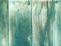 Παλαιά σύσταση τοίχων ξύλου και σανίδων για το μπλε υπόβαθρο Στοκ Εικόνες