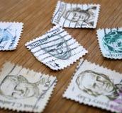 Παλαιά ταχυδρομικά γραμματόσημα στοκ φωτογραφία
