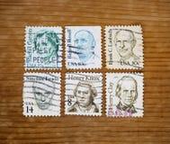 Παλαιά ταχυδρομικά γραμματόσημα στοκ φωτογραφίες με δικαίωμα ελεύθερης χρήσης
