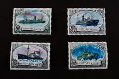 παλαιά ταχυδρομικά τέλη συλλογής stam Στοκ φωτογραφία με δικαίωμα ελεύθερης χρήσης