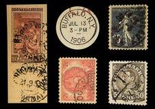 παλαιά ταχυδρομικά τέλη Στοκ εικόνες με δικαίωμα ελεύθερης χρήσης