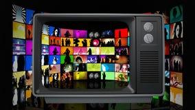 Παλαιά τηλεόραση απεικόνιση αποθεμάτων