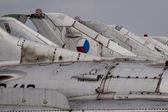 Παλαιά τσεχοσλοβάκικα αεριωθούμενα αεροπλάνα Στοκ φωτογραφία με δικαίωμα ελεύθερης χρήσης