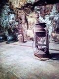 Παλαιά φανάρια, που χρησιμοποιούνται μέσα στο ορυχείο Calamita Στοκ εικόνα με δικαίωμα ελεύθερης χρήσης
