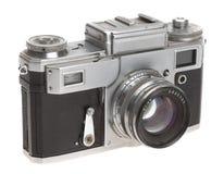 Παλαιά φωτογραφική μηχανή σε μια άσπρη ανασκόπηση Στοκ Φωτογραφία