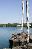 παλαιά φύση βαρκών ανασκόπη&sig Στοκ εικόνες με δικαίωμα ελεύθερης χρήσης