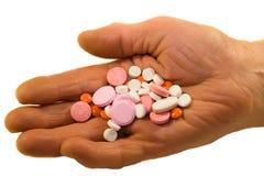παλαιά χάπια προσώπων ιατρι& στοκ εικόνα με δικαίωμα ελεύθερης χρήσης