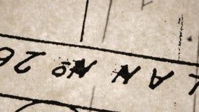 Παλαιά χειρόγραφα απόθεμα βίντεο