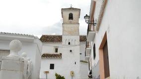 Παλαιά χριστιανική εκκλησία στο ανδαλουσιακό χωριό Daimalos, Ισπανία απόθεμα βίντεο