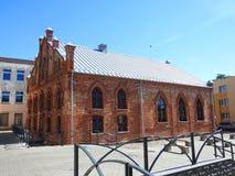 Παλαιά όμορφη συναγωγή Εβραίων Λιθουανία Στοκ Φωτογραφίες