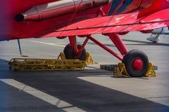 Παλαιά biplane αεροσκάφη προωστήρων Στοκ Εικόνα